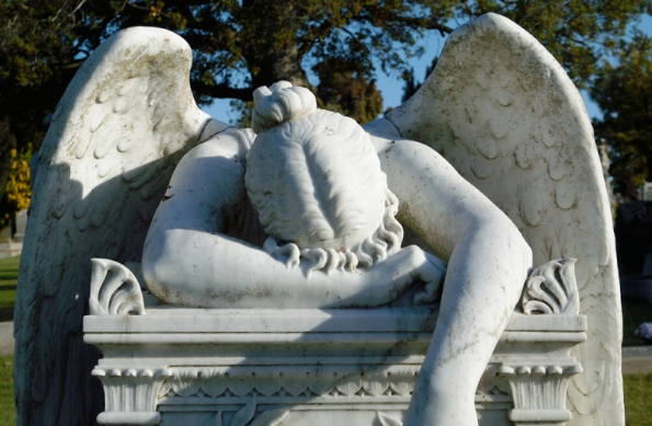 ...a statue that shows that even angels experience unspeakable grief....