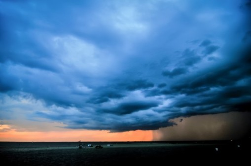 Like the weather, life comes and goes in a fierce sweep. Photo: Stormy Weather Over Florida by Alex Grichenk.