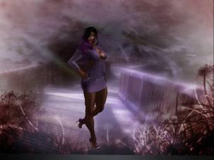 Felecia Carver models a Clarity's Revenge Dress...Taken from Felecia Carver's Facebook page...