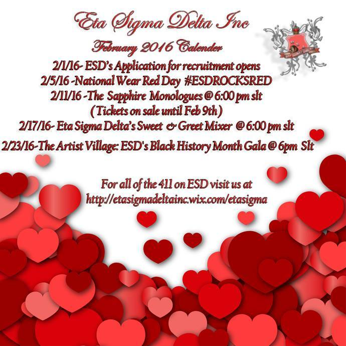 Eta Sigma Delta's Itinerary