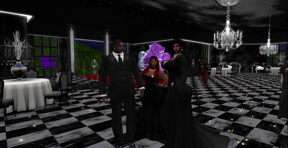 Treasure Xstar poses with her grandparents, Mrs. Cara W Glenfadden and Mr. Devlin Glenfadden