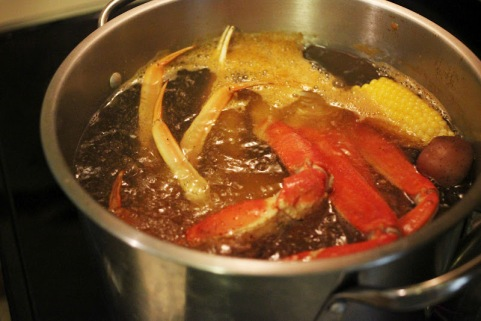low country boil in pot