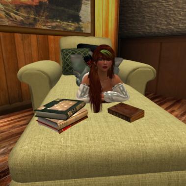 Maura at study...